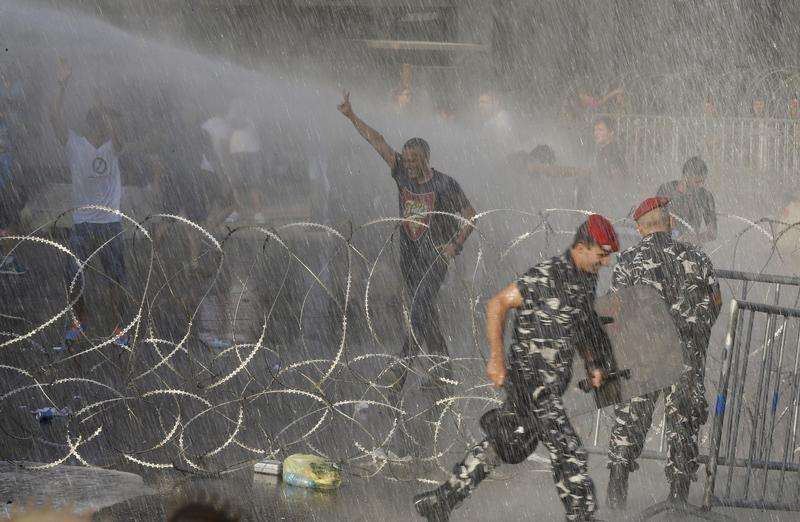 Lebanese security forces using  excessive force against protesters
