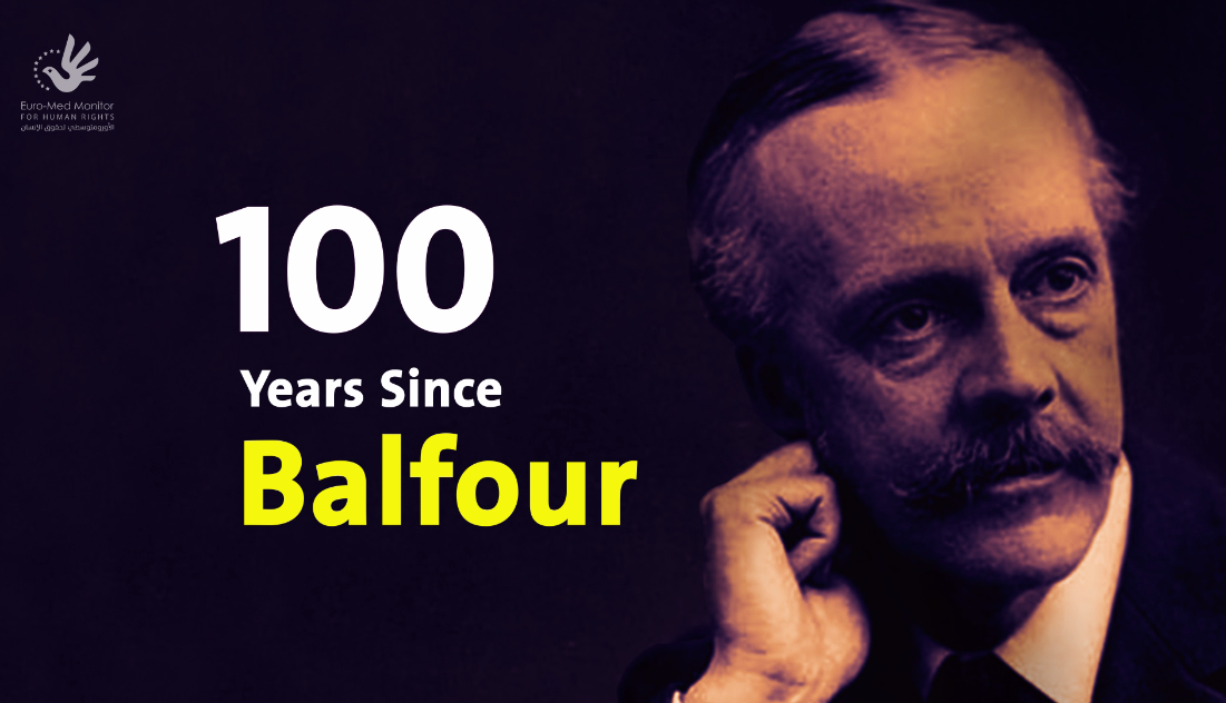 Palestinian Territories: Balfour has established a series of 100-year-old violations against Palestinians