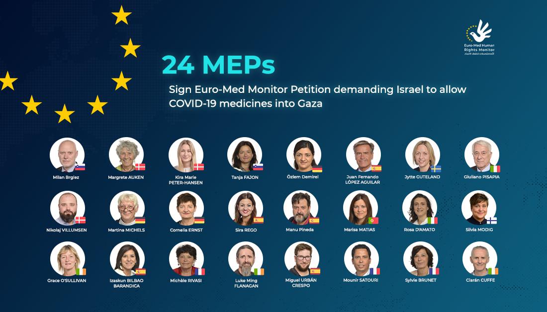 في عريضة للأورومتوسطي..25 نائبًا في البرلمان الأوروبي يطالبون بتدخل فوري لمساعدة غزة في جهود مكافحة كورونا