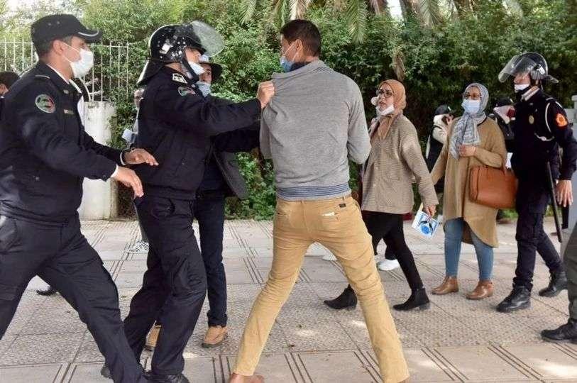 Maroc... Disperser la manifestation contractuelle des enseignants dévoile une répression sans précédent