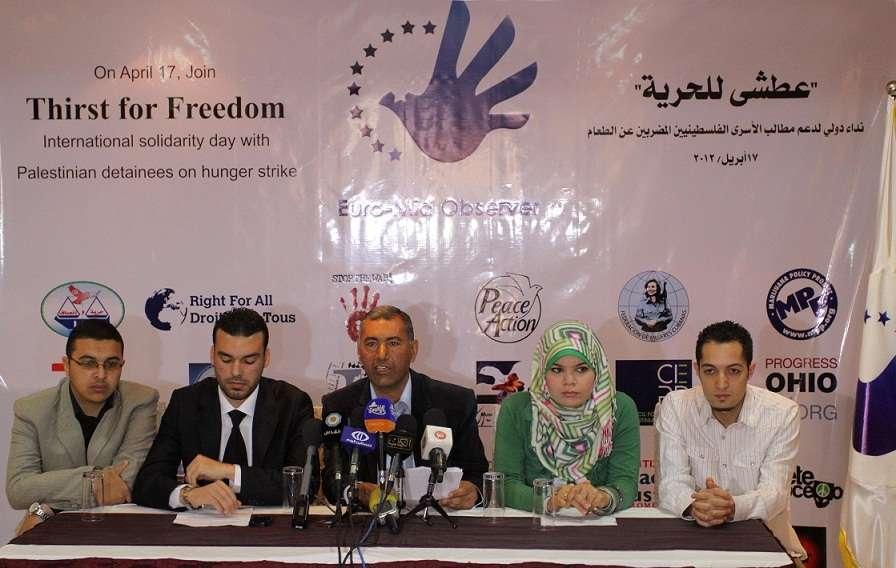 320 منظمة دولية تدشّن النداء الدولي لدعم مطالب الأسرى المضربين عن الطعام