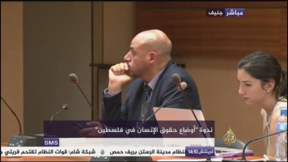 فلسطينيون يُسمعون مجلس حقوق الإنسان أنات المضربين والأطفال المعتقلين
