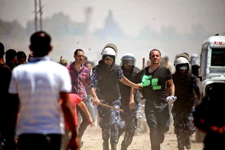 إدانة تقييد الأجهزة الأمنية لحرية التظاهر في غزة