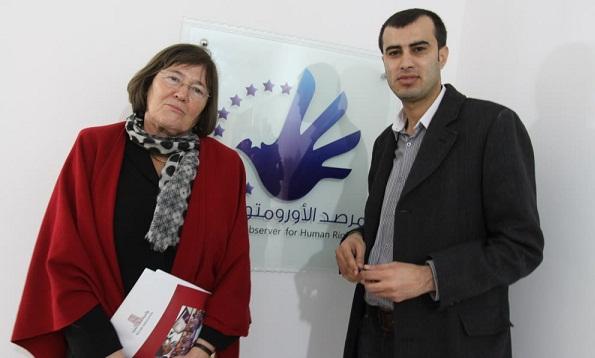 إفتتاح المقر الإقليمي لـ الأورومتوسطي برعاية وزيرة التنمية السياسية البريطانية السابقة